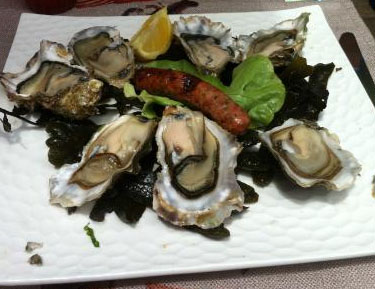 L'assiette d'huîtres « façon Bassin d'Arcachon»